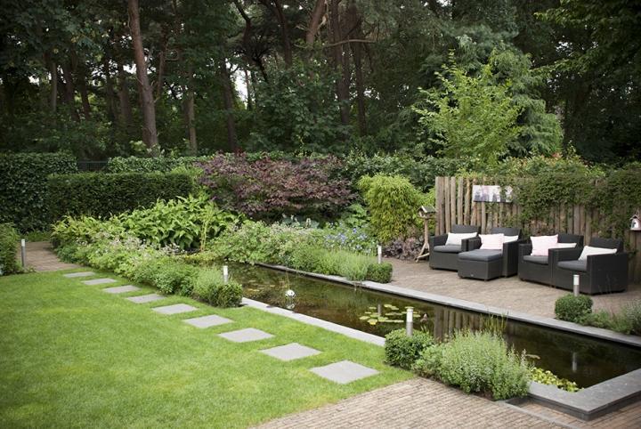 Moderne Bosaangrenzende Tuin Dutch Quality Gardens 1