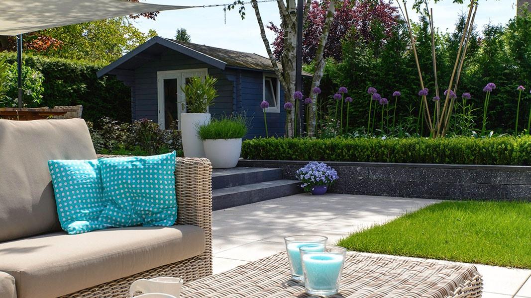 Dutch Quality Gardens Visio Vireo Contrastrijke Moderne Tuin Met Schaduwdoek In Steenbergen 6