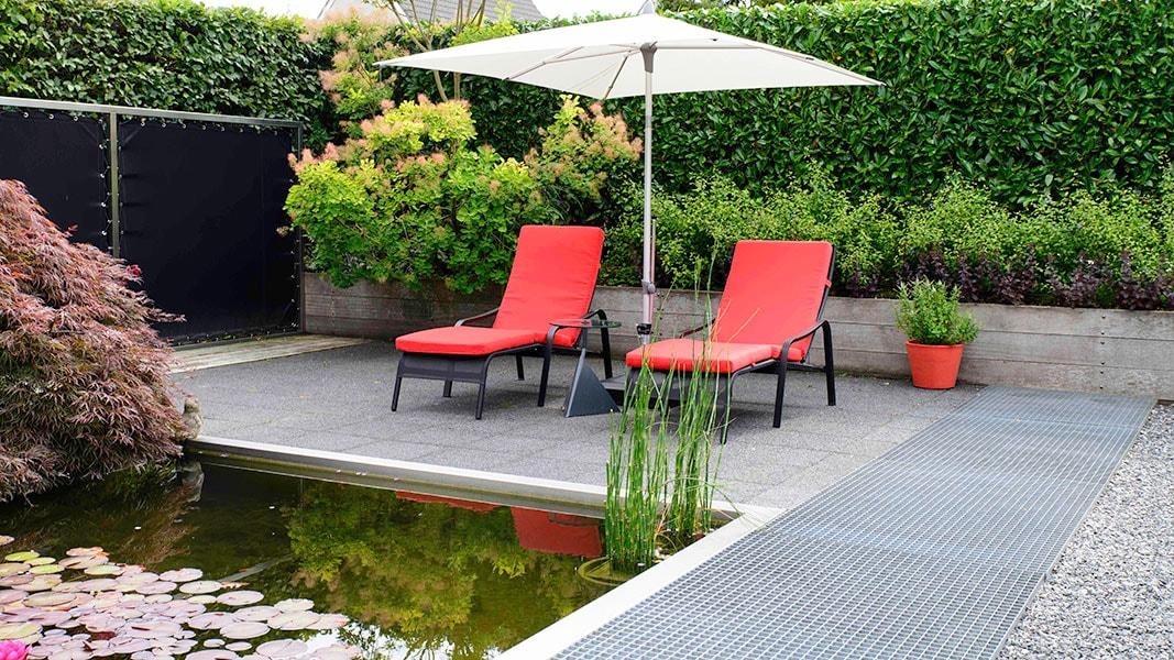 Dutch Quality Gardens Visio Vireo Vijvertuin Met Rood In De Hoofdrol In Woensdrecht 2