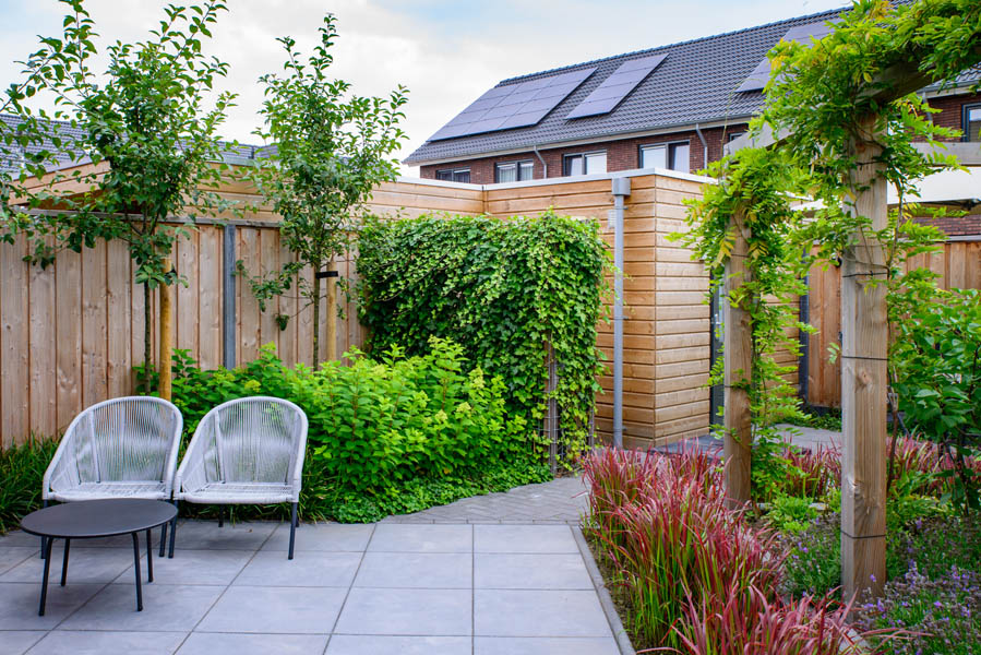 Moderne Tuin In Diagonalen Dutch Quality Gardens Eshuis Hoveniers 5