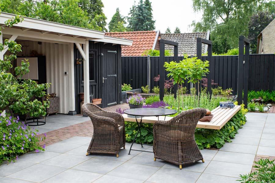 groen paarse tuin met cortenstaal waterelement (1)