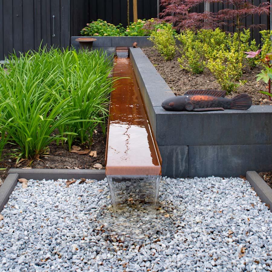 groen paarse tuin met cortenstaal waterelement (3)