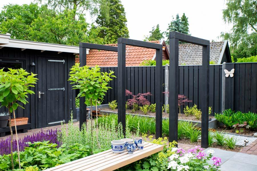 groen paarse tuin met cortenstaal waterelement (4)