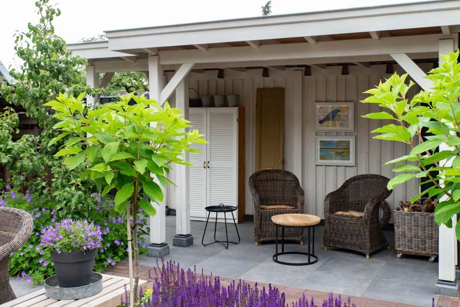 groen paarse tuin met cortenstaal waterelement (5)