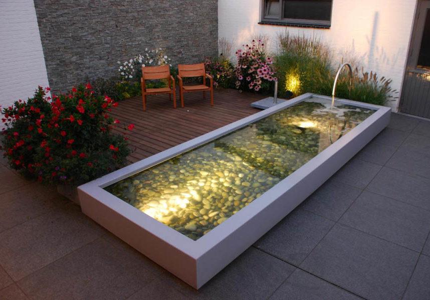 Moderne voor- en achtertuin 1